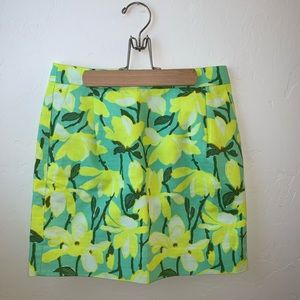 J Crew Factory bright floral green yellow skirt 2